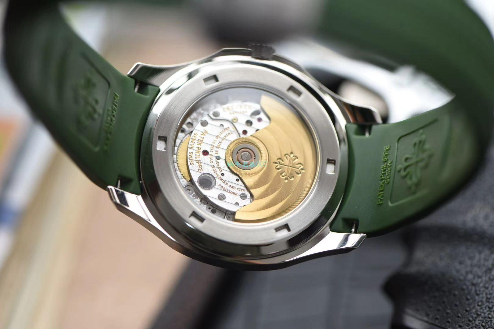 视频评测台湾厂超A高仿百达翡丽AQUANAUT绿色手雷5168G-010腕表 / BD239LV