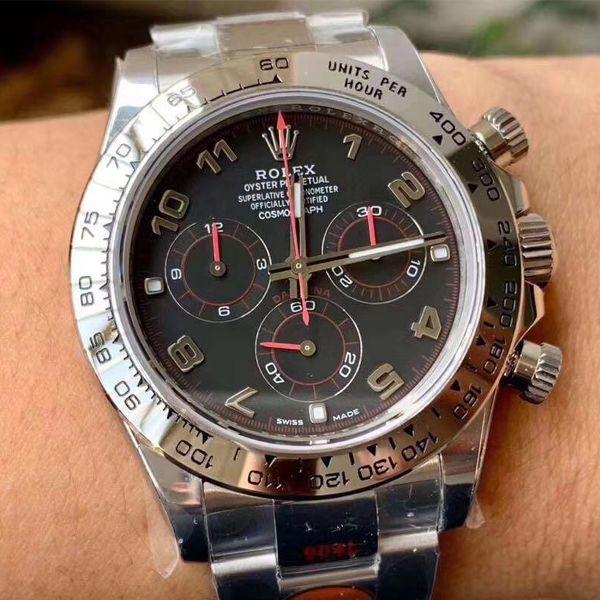 N厂新款超级4130劳力士宇宙计型迪通拿116509-78599 黑盘,116509-78599 银色腕表