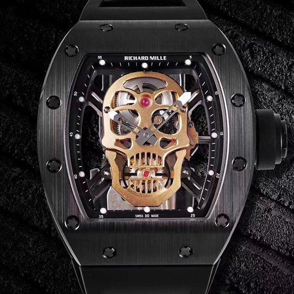 ZF厂理查德米勒鬼王骷髅头男士系列RM 52-01腕表价格报价