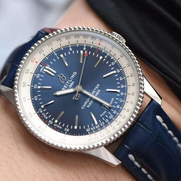 【视频评测定制瑞士机芯】百年灵顶级复刻手表航空计时41毫米系列A17326211C1P3腕表价格报价
