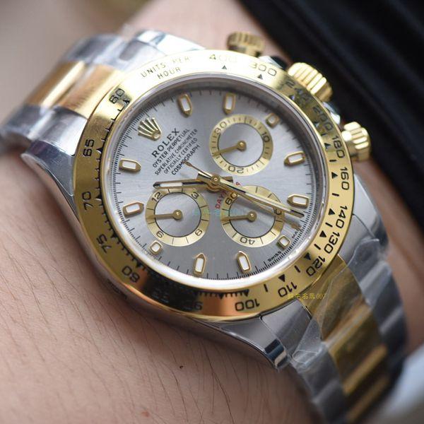 【N厂顶级复刻手表间金4130】劳力士宇宙计型迪通拿系列116523-78593 银色腕表