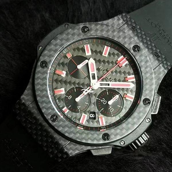 HBBV6厂超A精仿手表宇舶大爆炸碳纤维红字限定特别版腕表