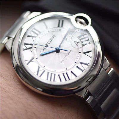 视频评测V6厂官网V7版本顶级复刻手表卡地亚蓝气球42毫米男装W69012Z4多少钱价格报价