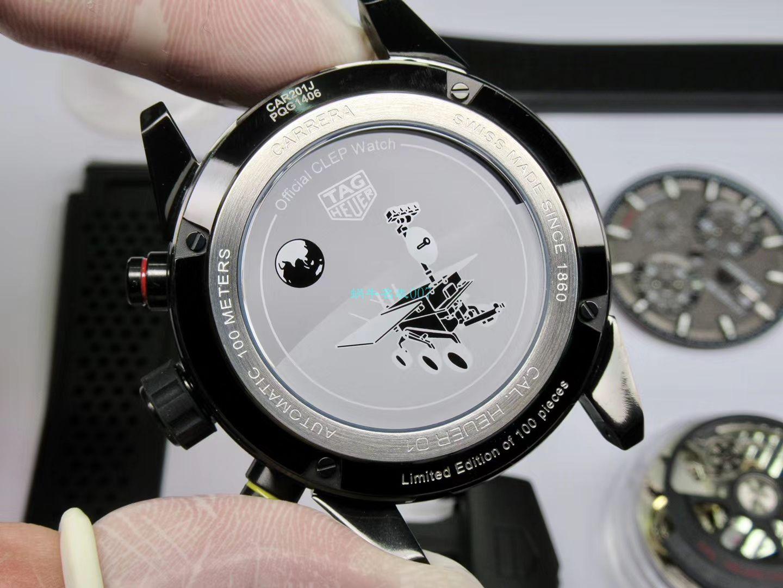 XF厂新品力作泰格豪雅卡莱拉月球表面CAR201J.FT6087腕表 / TG096