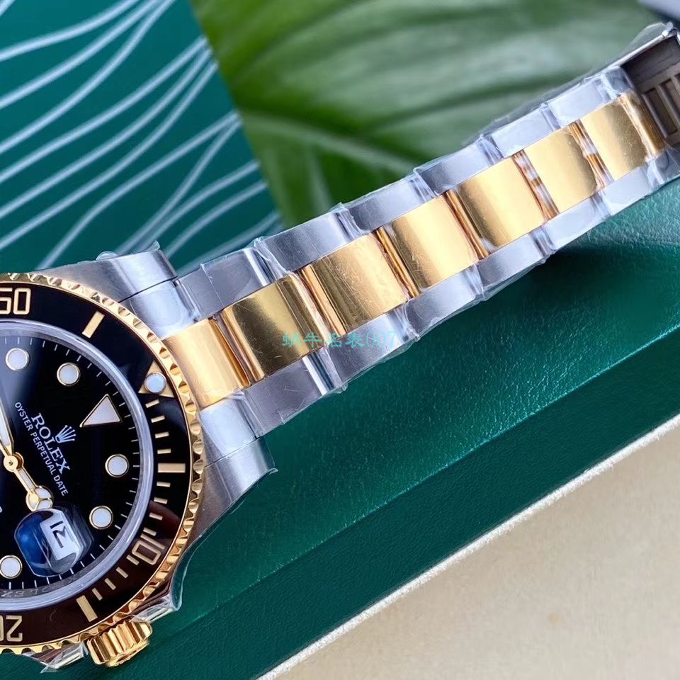 高端定制包金ETA机芯劳力士潜航者型116613LB-97203 蓝盘腕表(间金蓝) / R597