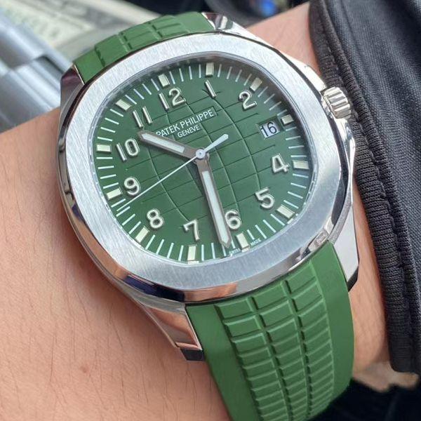 ZF厂超A高仿手表百达翡丽绿面手雷5168G-010腕表价格报价