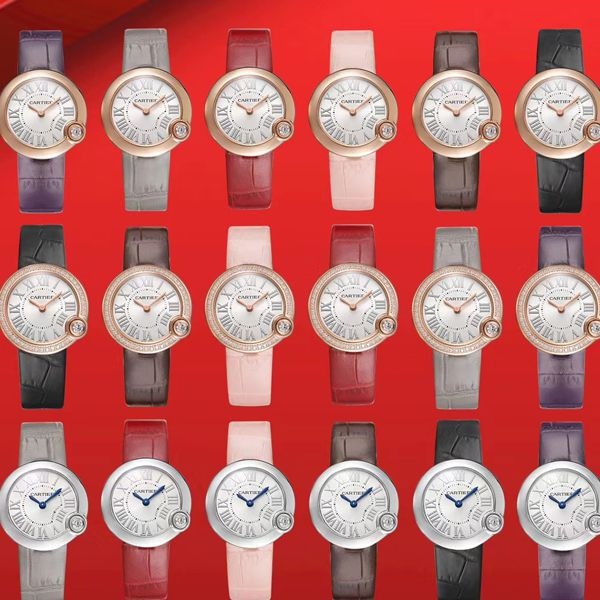 V6厂顶级复刻手表卡地亚白气球女装30毫米WGBL0005,WJBL0008腕表价格报价