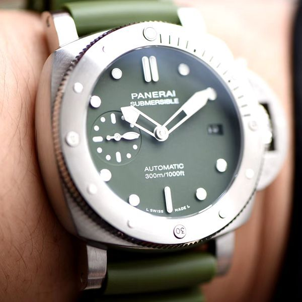 【视频评测最好的顶级复刻手表网站】VS厂沛纳海SUBMERSIBLE 潜行PAM01055腕表价格报价