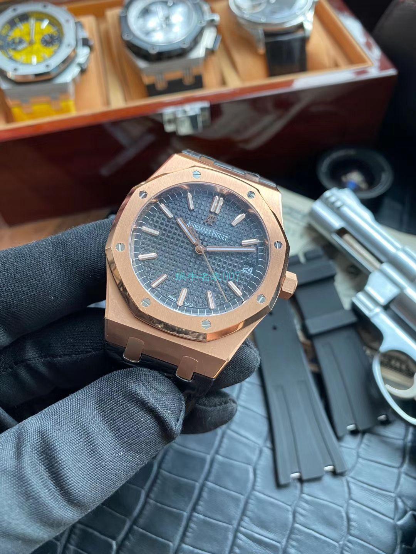 视频评测OM厂顶级复刻手表AP爱彼皇家橡树15500OR.OO.D002CR.01腕表 / AP193