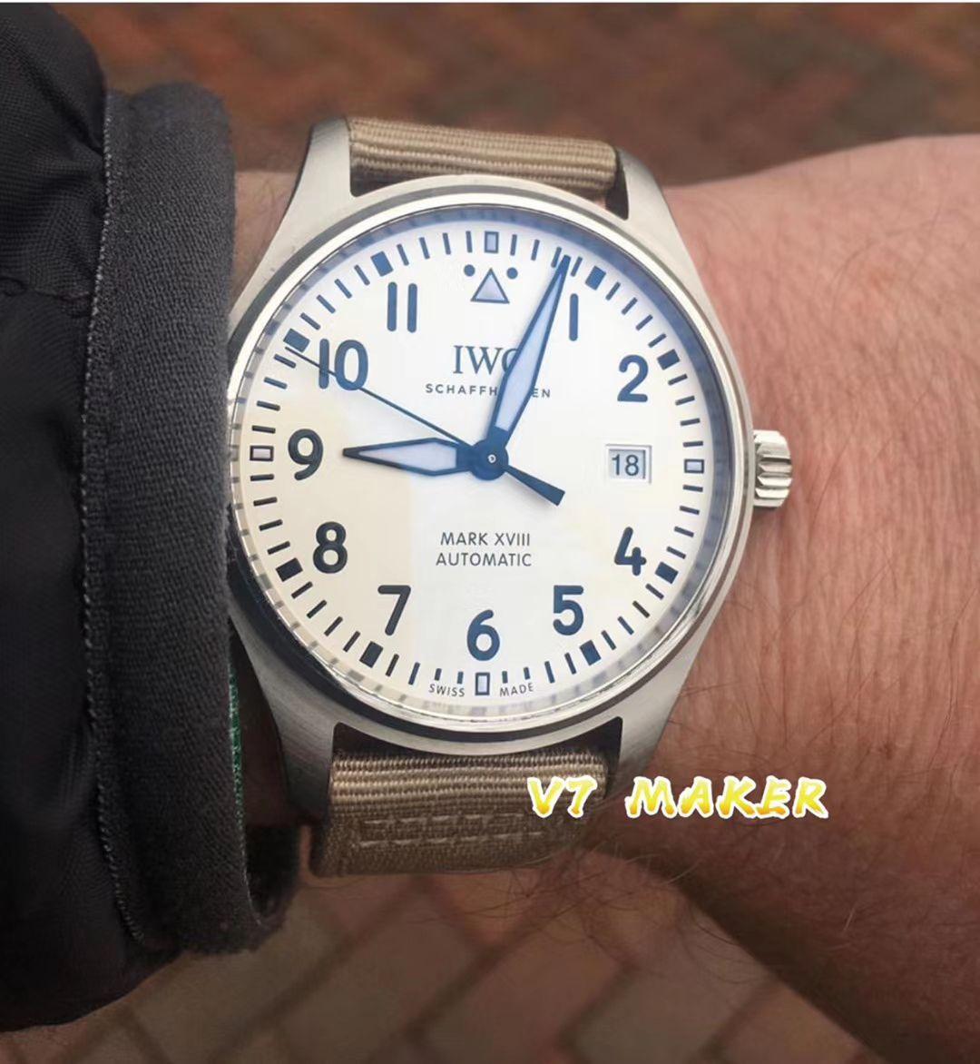 V7厂官网超A高仿手表万国飞行员马克十八新面IW327017 / WG531