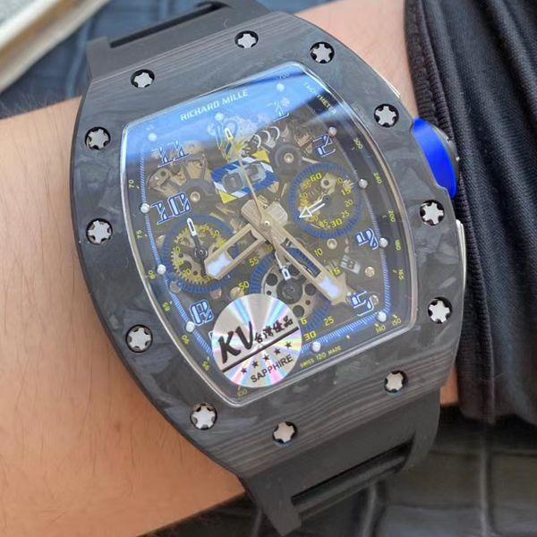 KV厂V2锻造碳纤维升级版理查德米勒精仿手表RM 011腕表价格报价