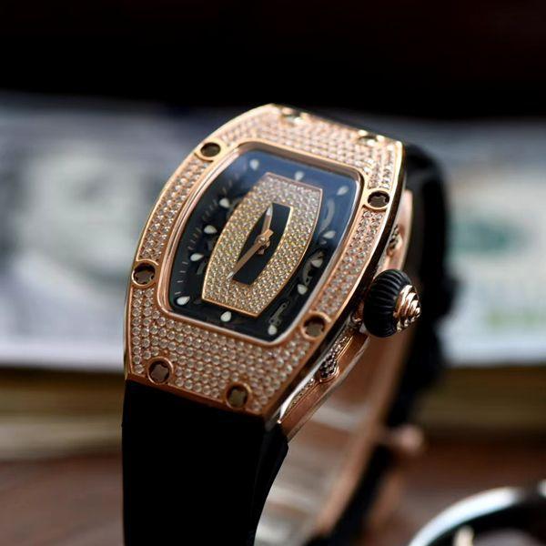 超A精仿理查德米勒手表Richard Mille RM007女神镶钻腕表价格报价