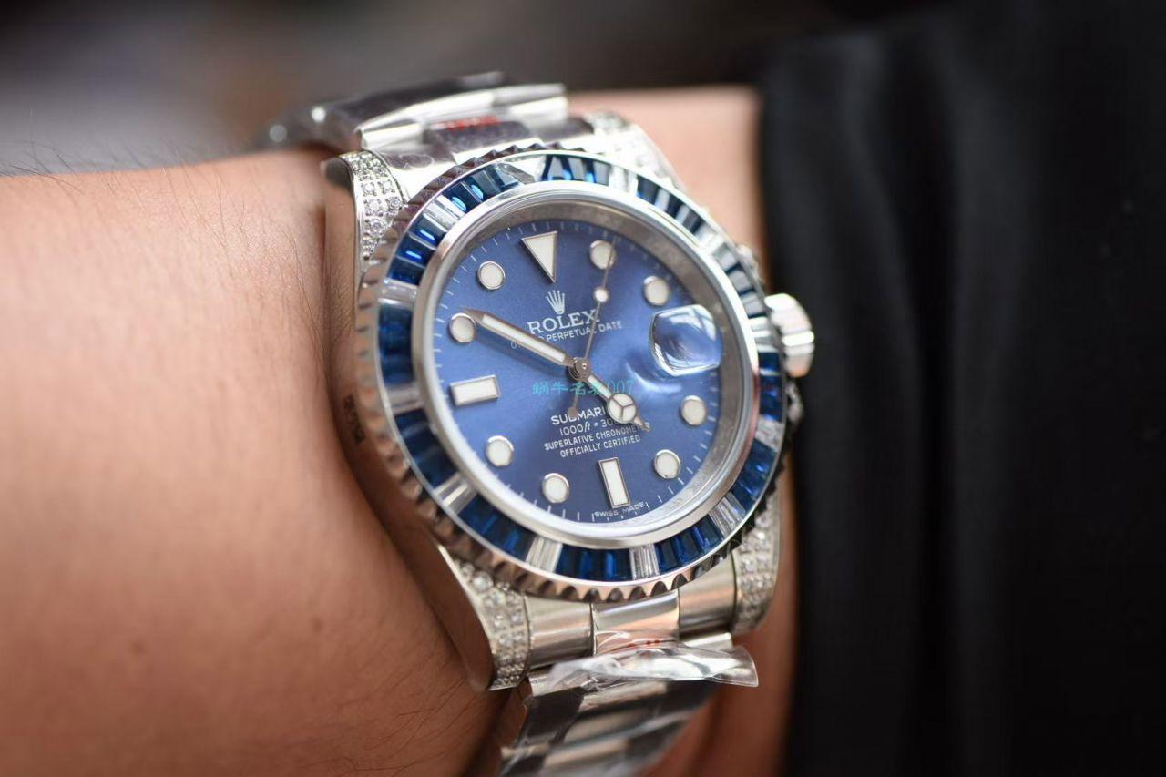GM厂一比一精仿手表劳力士罗志祥同款后钻蓝钻鬼 / R618B