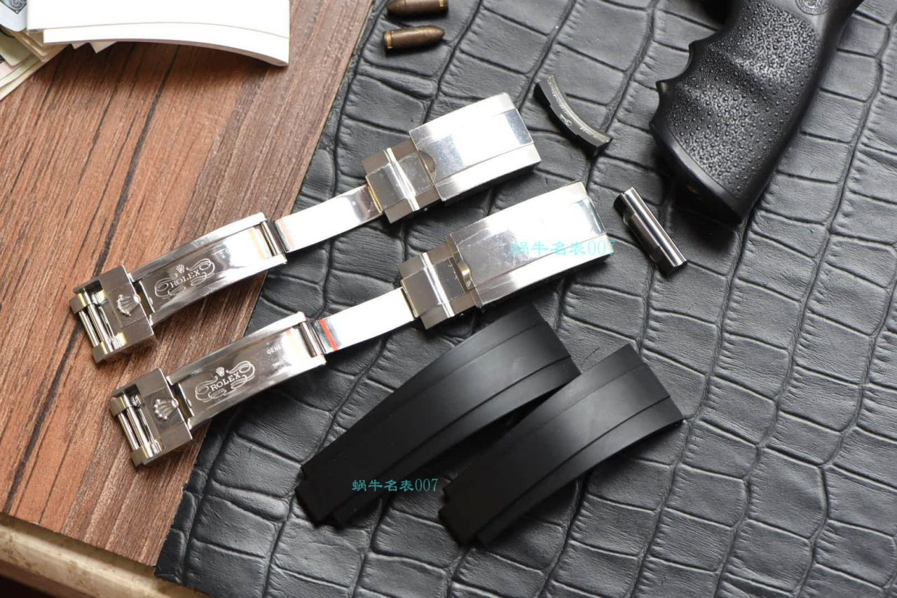 劳力士endlink头粒适配劳力士钢带迪通拿水鬼切换白胶带黑胶带 / R619B