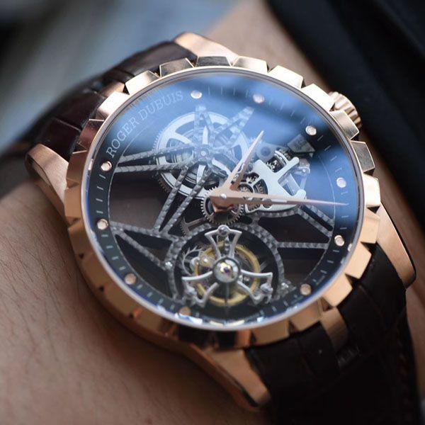 顶级复刻罗杰杜彼镂空陀飞轮手表【视频评测】罗杰杜彼复刻手表最好版本价格报价