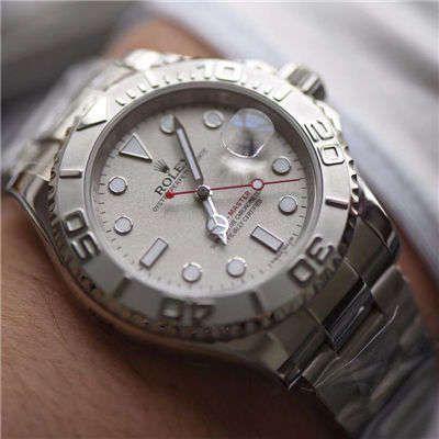 AR厂精仿手表劳力士游艇名仕型【视频评测】116622-78760 银盘腕表