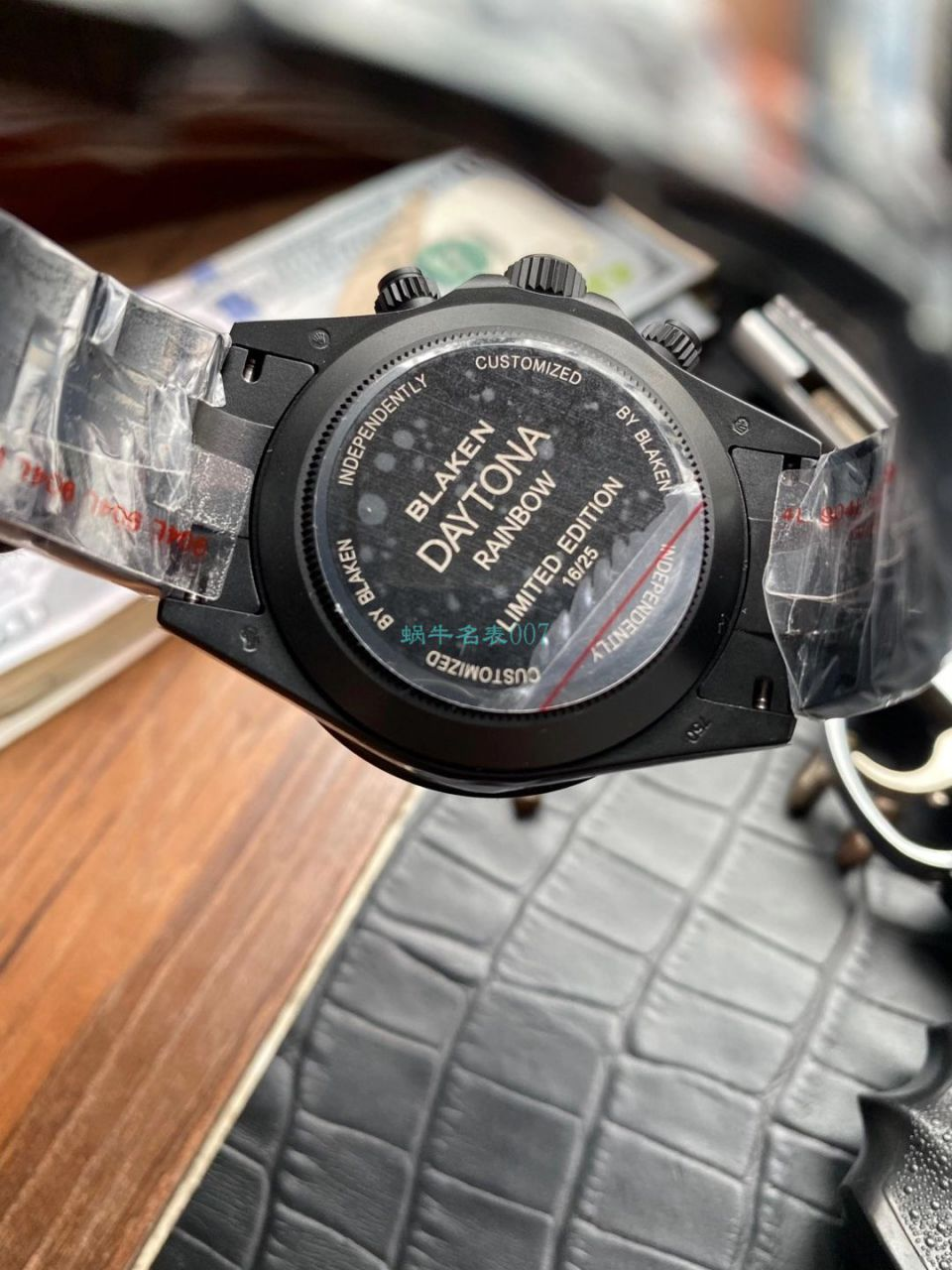 TW厂Blacken改装劳力士彩虹迪通拿碳黑钢皇版本手表 / R650Blacken