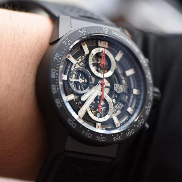 XF厂泰格豪雅复刻手表卡莱拉陶瓷红骑士CAR2090.FT6088腕表