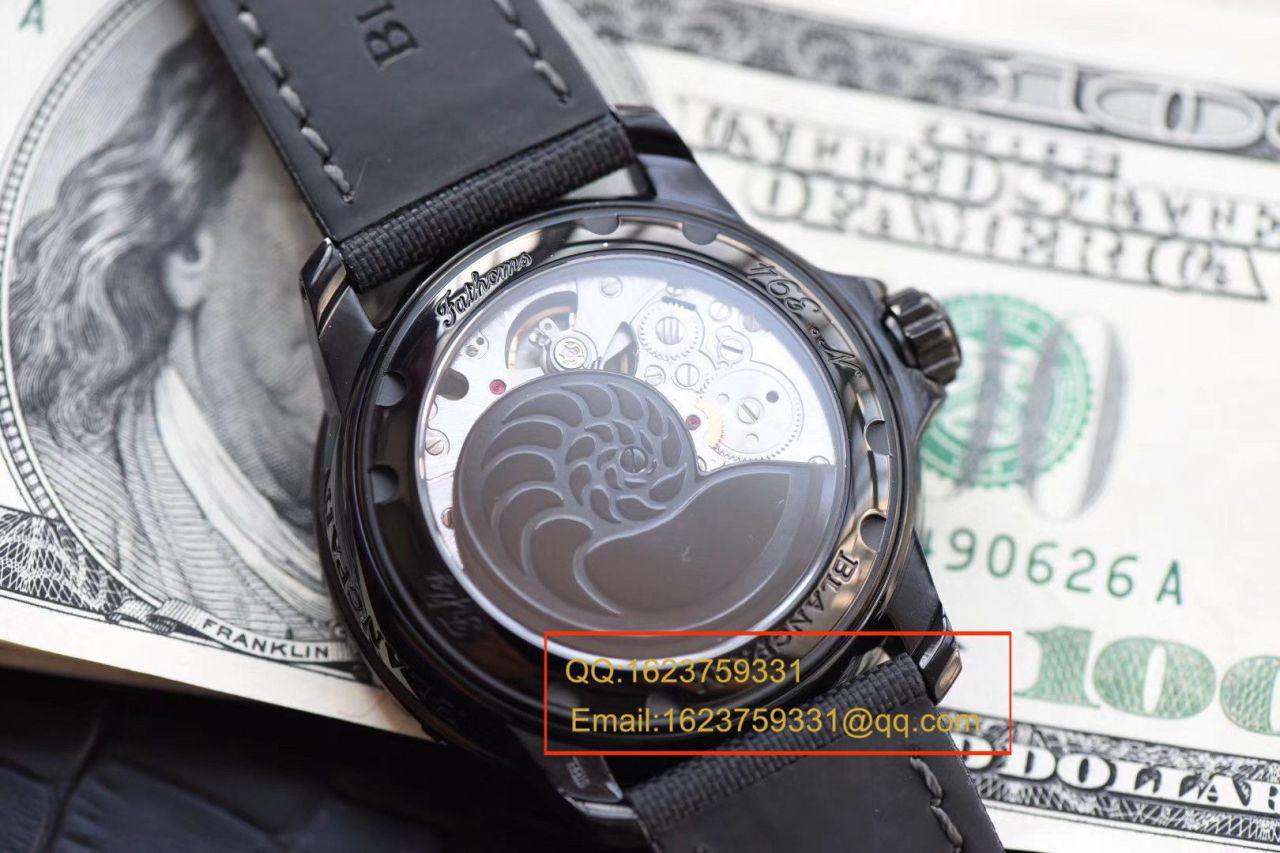 【视频评测】ZF厂宝珀五十噚1比1精仿手表5015-11C30-52A腕表 / BP072baopo