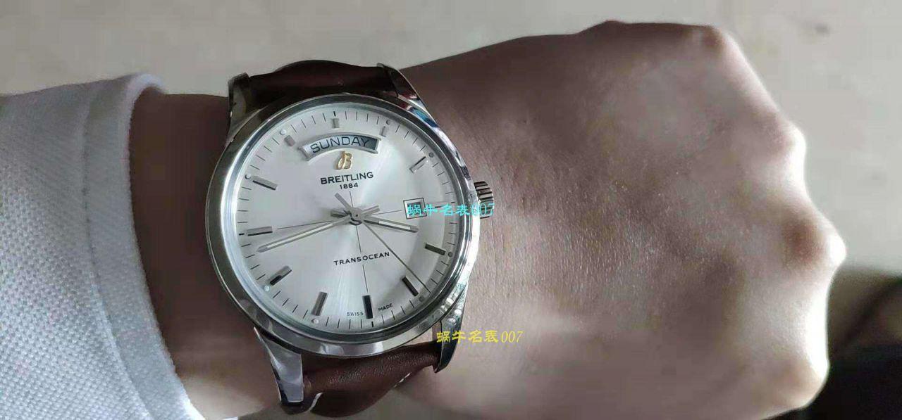 【视频评测】V7厂百年灵越洋系列超A高仿手表R45310121G1P1腕表 / BL198V7yueyang