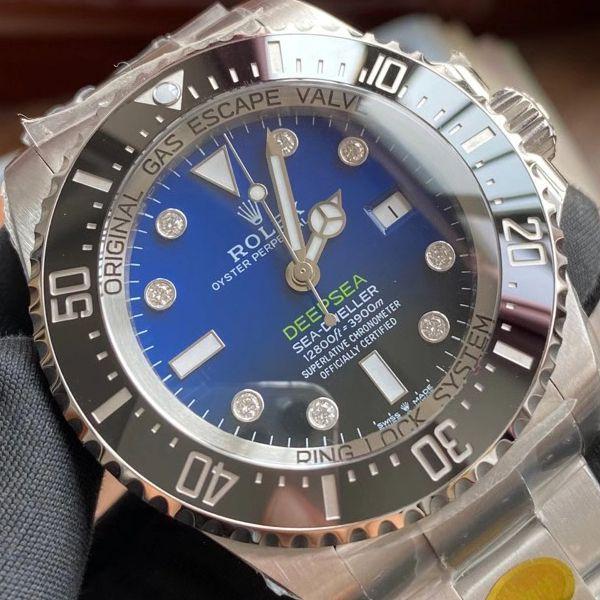 【真钻定制】N厂劳力士渐变蓝鬼王手表改装真钻刻度m126660-0002