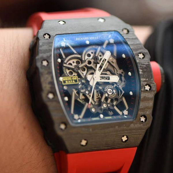【视频评测】ZF厂理查德米勒Richard Mille V3版本RM35-02高仿手表价格报价