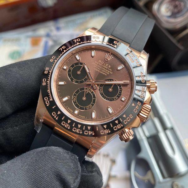 【视频评测】NOOB厂劳力士4130机芯迪通拿咖啡猫m116515ln-0041顶级复刻手表价格报价