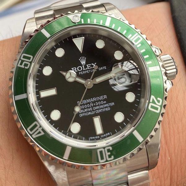 AR厂劳力士1比1高仿复古绿水鬼SUB16610LV-93250手表价格报价