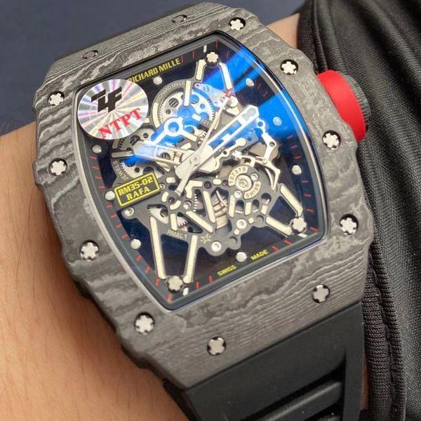 【视频评测】ZF厂1比1复刻理查德米勒Richard Mille V3版本RM 35-02手表