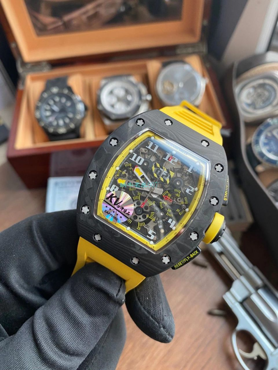KV厂理查德米勒RM011 Yellow Storm黄色风暴顶级复刻手表 / KVRM011YellowStormB