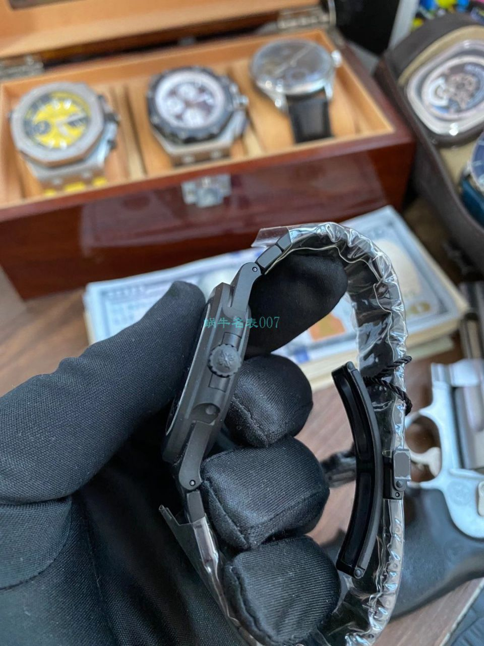 PPF厂V4 DCL版(金刚石碳涂层表壳)百达翡丽鹦鹉螺1比1顶级高仿手表5711/1A-010 / BD360