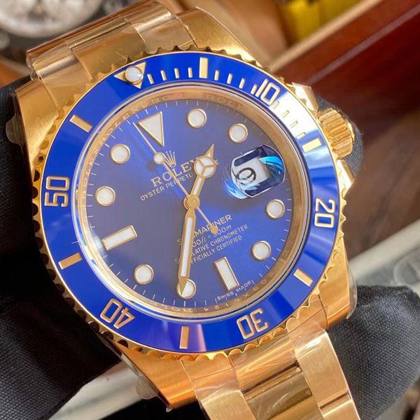 VS厂劳力士潜航者全金蓝水鬼1比1高仿手表m116618lb-0003腕表价格报价
