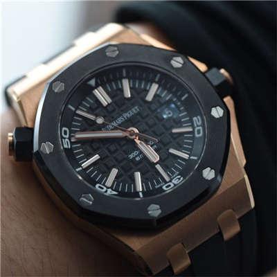 【视频测评JF一比一高仿腕表】爱彼皇家橡树离岸型系列 15709TR.OO.A005CR.01腕表