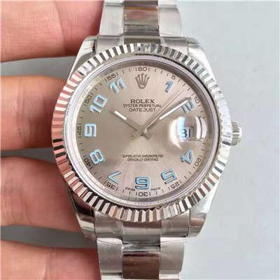 【EW厂一比一高仿手表】劳力士日志型系列116334-72210铑白盘腕表价格报价