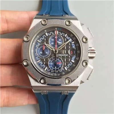 【JF厂超A精仿手表】爱彼皇家橡树离岸型系列舒马赫限量版26568PM.OO.A021CA.01机械腕表