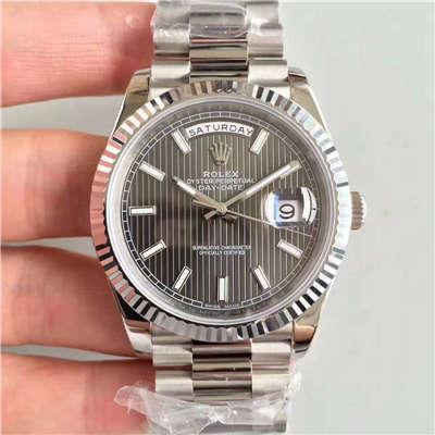 【N厂一比一顶级复刻手表】劳力士星期日历型系列228239-黑盘机械腕表