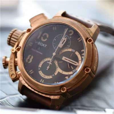 【视频解析】UB厂1:1复刻手表U-BOAT青铜腕表价格报价