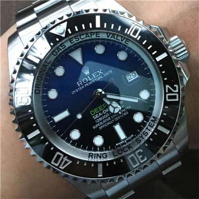 【独家视频解析】N厂V7版本一比一超A精仿手表劳力士海使型系列116660-98210 蓝盘腕表(蓝面渐变蓝鬼王)