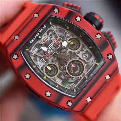 【独家视频测评RM一比一超A高仿手表】理查德.米勒男士系列RM 011 RED QTPT红碳纤维腕表