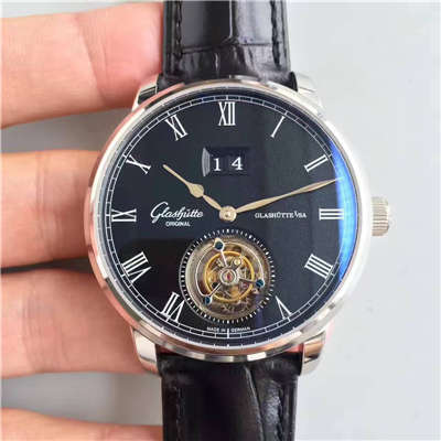 【TF厂一比一超A高仿手表】格拉苏蒂原创艺术与工艺系列1-94-03-04-04-04陀飞轮腕表
