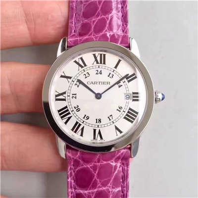 【K11厂正品开模顶级复刻手表】卡地亚RONDE DE CARTIER伦敦SOLO系列W6700155、W6700255女士石英腕表价格报价