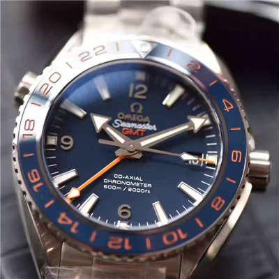 【独家视频测评KW厂顶级1:1复刻手表】欧米茄海马系列232.30.44.22.03.001《GMT美好星球》腕表价格报价