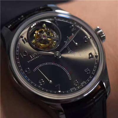 【独家视频测评YL一比一超A精仿手表】万国葡萄牙系列逆跳陀飞轮IW504401腕表