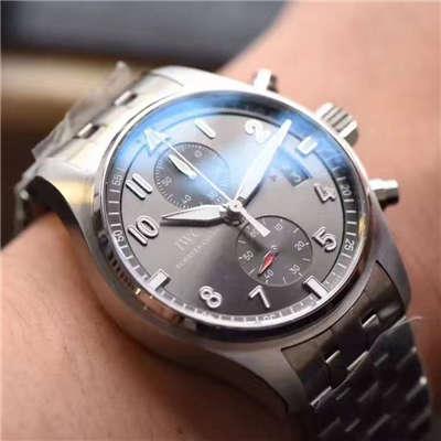 【独家视频测评V6厂一比一超A高仿手表】万国飞行员喷火战机计时腕表系列 IW387804腕表价格报价