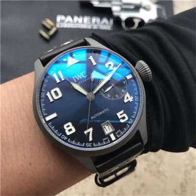 【独家视频测评】YL厂1:1超A精仿手表之万国大型飞行员特别版喷砂精钢壳套蓝面男表价格报价