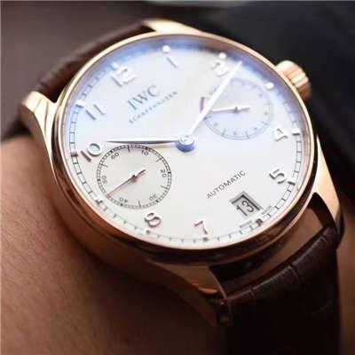 【独家视频评测】【ZF厂顶级一比一复刻手表】万国葡萄牙计时系列IW500701腕表(万国七日链)价格报价
