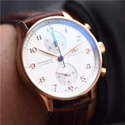 【独家视频测评YL厂V7版本一比一超A精仿手表】万国葡萄牙计时系列IW371480腕表价格报价