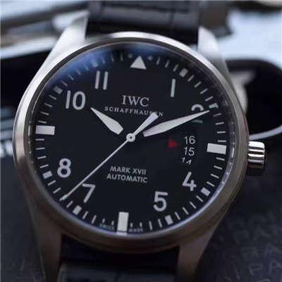 【MK厂1:1超A精仿手表】万国飞行员系列PILOT'S WATCH MARK XVII马克十七飞行员IW326501腕表价格报价