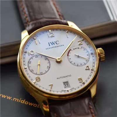 【ZF一比一超A高仿手表】万国葡萄牙七天系列黄金版葡七IW500101腕表价格报价