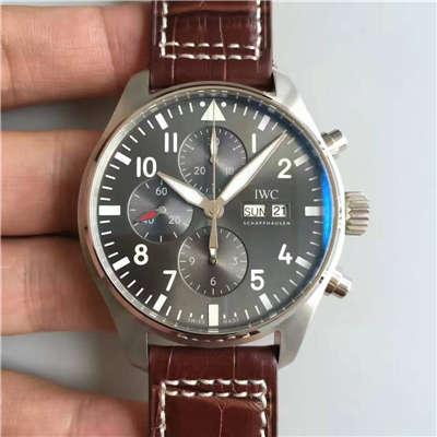 【ZF厂一比一复刻手表】万国CHRONOGRAPH飞行员系列IW377719腕表 皮带款价格报价